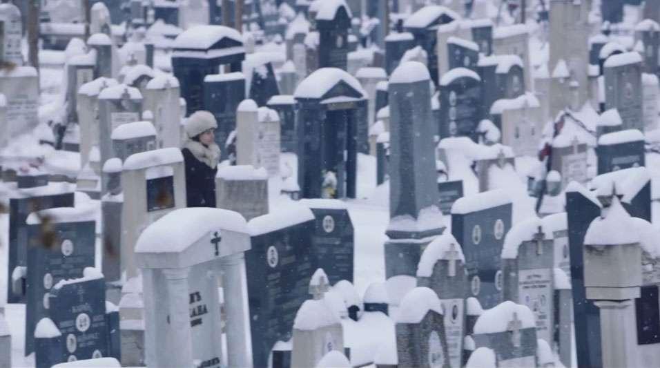 wedding and cemetery scene despite the falling snow shamim sarif