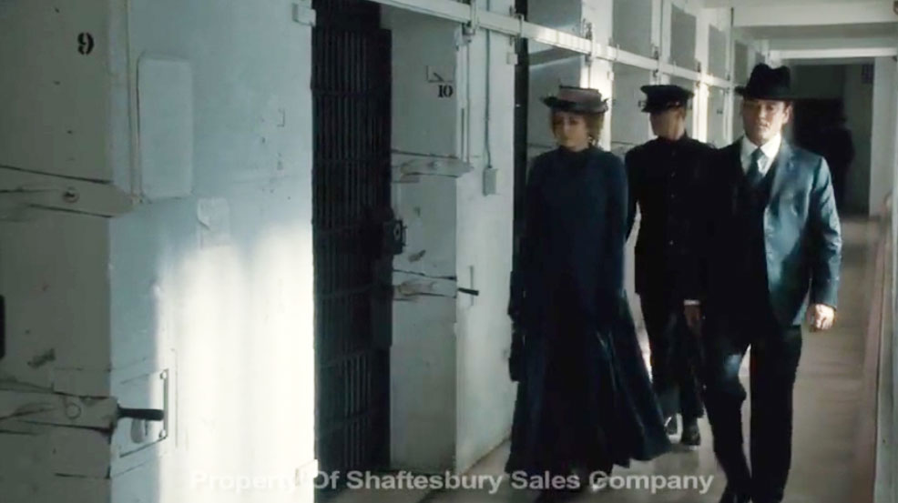 Murdoch Mysteries in the prison scene Shamim Sarif